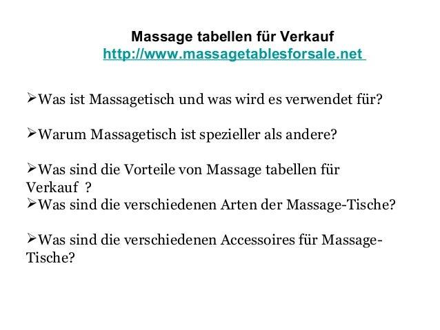 Massage tabellen für Verkauf  Slide 2