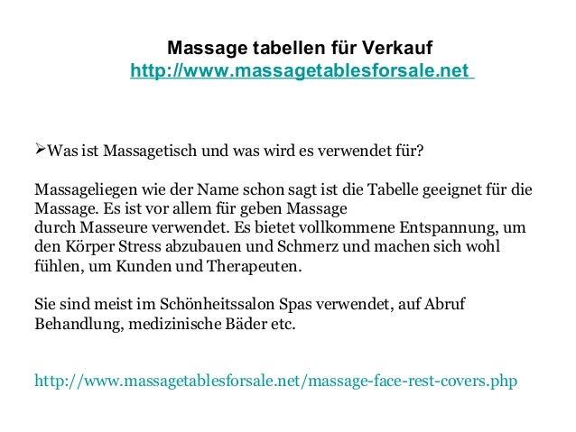 Massage tabellen für Verkauf  Slide 3