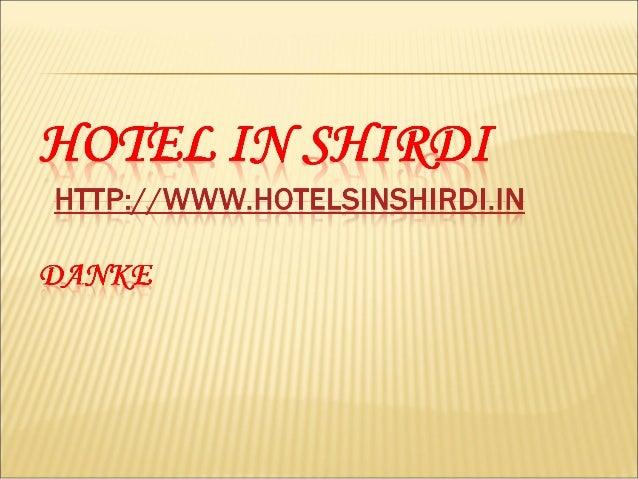 Hotel in Shirdi