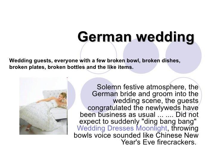 German wedding  Solemn festive atmosphere, the German bride and groom into the wedding scene, the guests congratulated the...