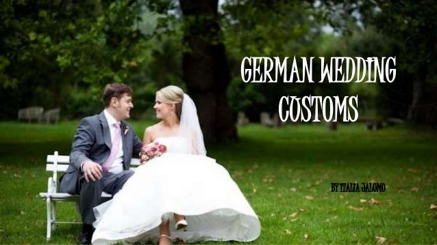 German Wedding Traditions