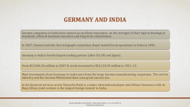 German Investment in India Report