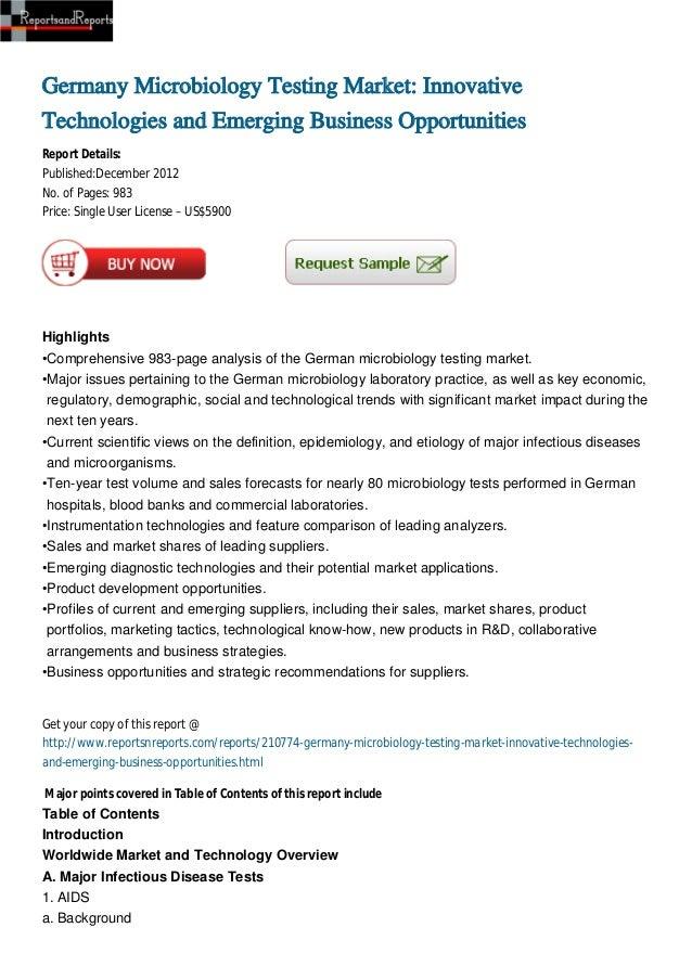 Germany Microbiology Testing Market: InnovativeTechnologies and Emerging Business OpportunitiesReport Details:Published:De...