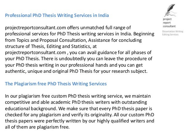 Dissertation writers in chennai