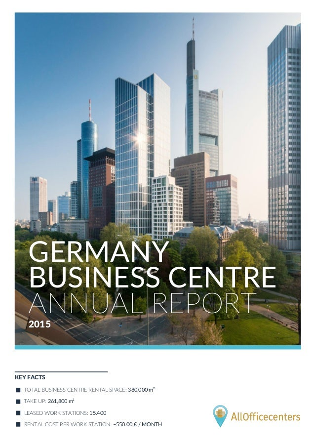 Germany business centre annual report 2015 by AllOfficecenters
