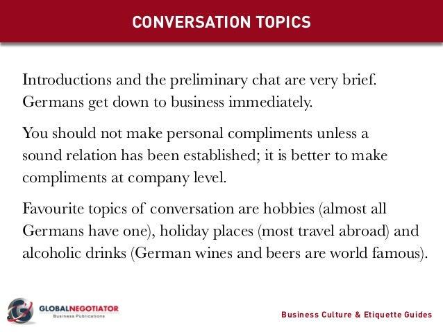 german business etiquette