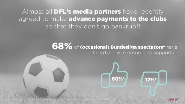 Almost all DFL's media partners have recently agreed to make advance payments to the clubs so that they don't go bankrupt!...