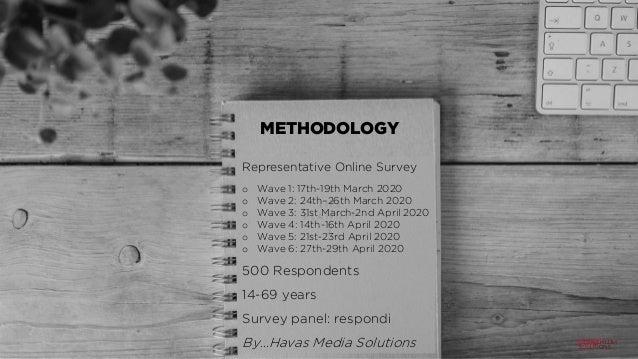 METHODOLOGY Representative Online Survey o Wave 1: 17th-19th March 2020 o Wave 2: 24th–26th March 2020 o Wave 3: 31st Marc...