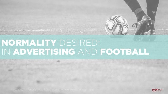 NORMALITY DESIRED: IN ADVERTISING AND FOOTBALL Source: Survey powered by Havas Media Solutions, wave 6: 27.-29.4.2020, 500...