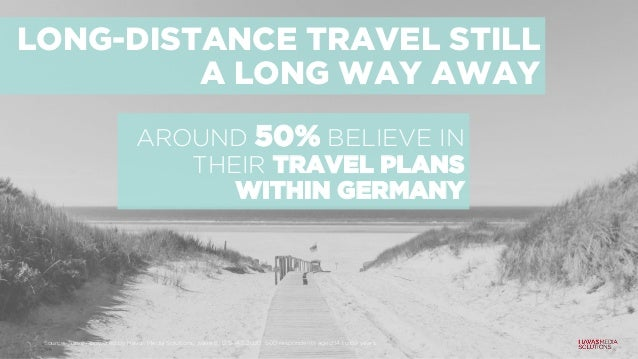 LONG-DISTANCE TRAVEL STILL A LONG WAY AWAY AROUND 50% BELIEVE IN THEIR TRAVEL PLANS WITHIN GERMANY Source: Survey powered ...