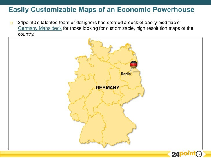 Germany Maps Essential For PPT Presentations Focusing On Germany - Germany map high resolution
