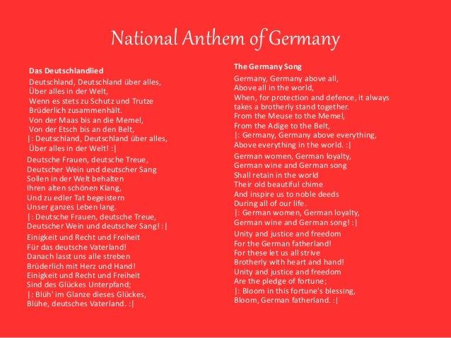 Germany National Anthem with English Subtitles - YouTube