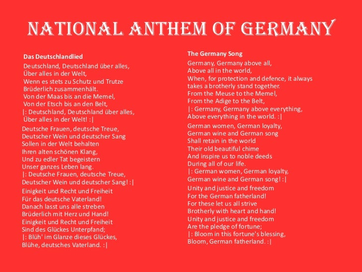 Wie Heißt Die Deutsche Nationalhymne