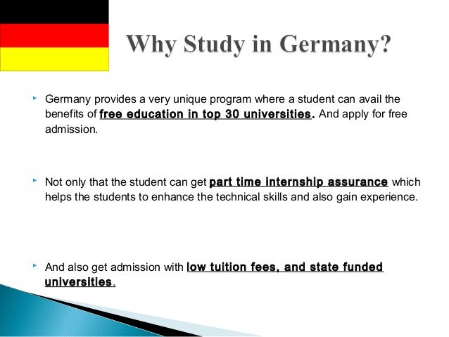 Study in Germany- Free Education in 30 state University