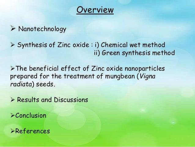 Germinaton Of Vigana Radiata Using Zno Nanoparticles