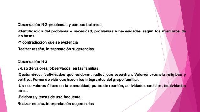 Observación N-2-problemas y contradicciones: -Identificación del problema o necesidad, problemas y necesidades según los m...