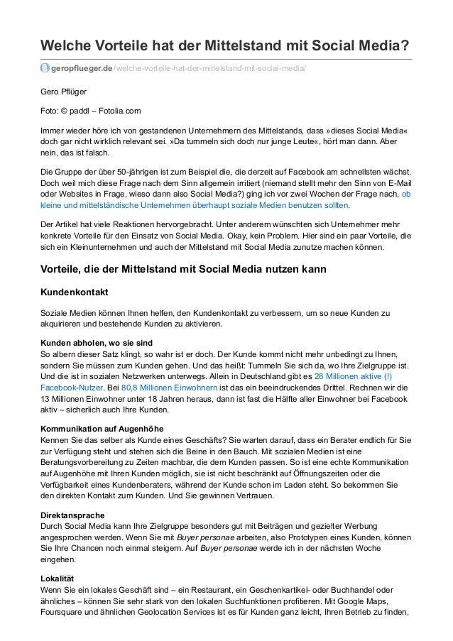 Welche Vorteile hat der Mittelstand mit Social Media? geropflueger.de /welche-vorteile-hat-der-mittelstand-mit-social-medi...