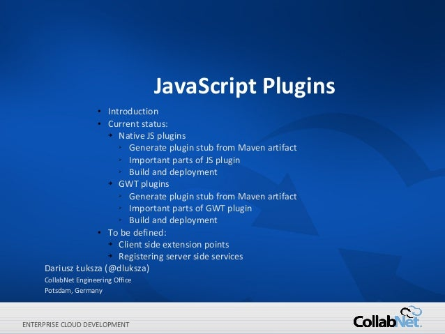 JavaScript Plugins                     Introduction                      ●                  ●  Current status:            ...