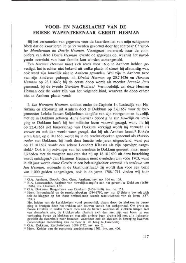 Gerrit Hesman in Gens Nostra 1972 jaargang 27