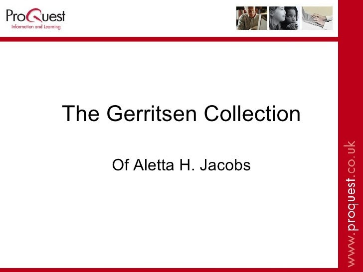 The Gerritsen Collection Of Aletta H. Jacobs