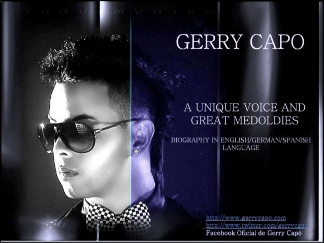 GERRY CAPO - A UNIQUE VOICE AND GREAT MEDOLDIES