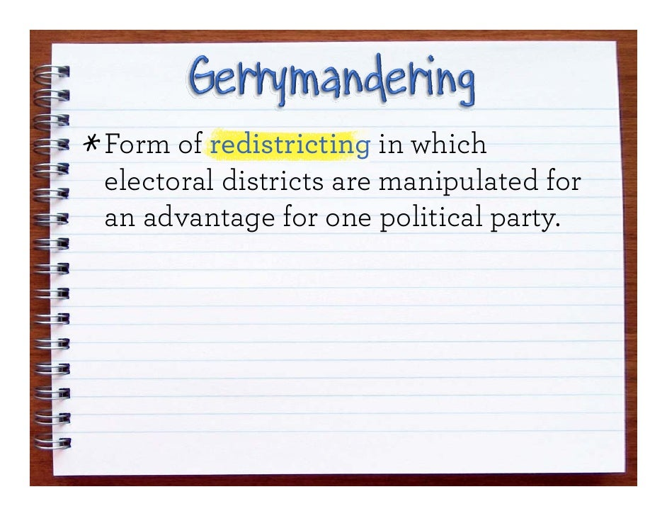 Gerrymandering and Filibusters – Gerrymandering Worksheet