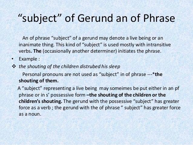 gerund phrase exercises
