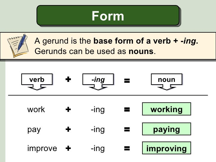 Gerunds, subject and object