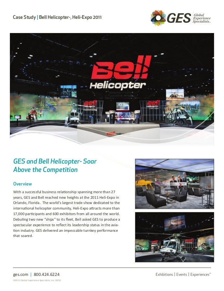 Case Study | Bell Helicopter-, Heli-Expo 2011GES and Bell Helicopter- SoarAbove the CompetitionOverviewWith a successful b...