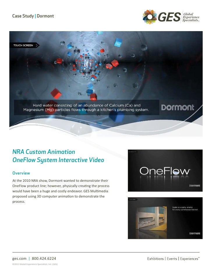 Case Study | DormontNRA Custom AnimationOneFlow System Interactive VideoOverviewAt the 2010 NRA show, Dormont wanted to de...