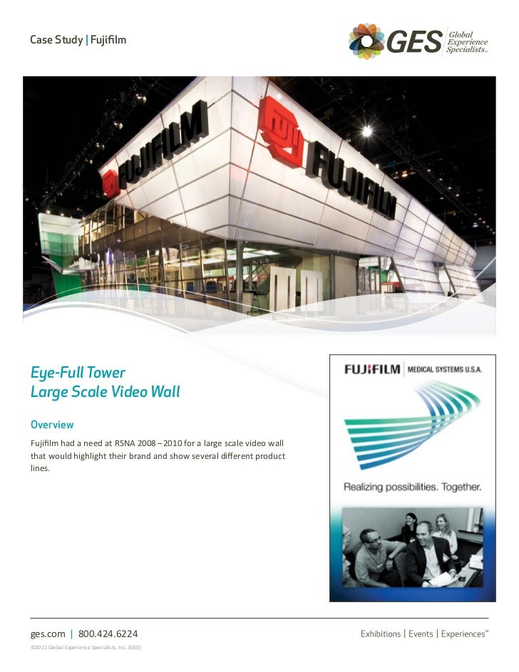 Case Study | FujifilmEye-Full TowerLarge Scale Video WallOverviewFujifilm had a need at RSNA 2008 – 2010 for a large scale...