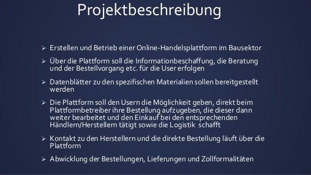 Geschaeftsprojektplan schweizerisches Online Baukontor Slide 2