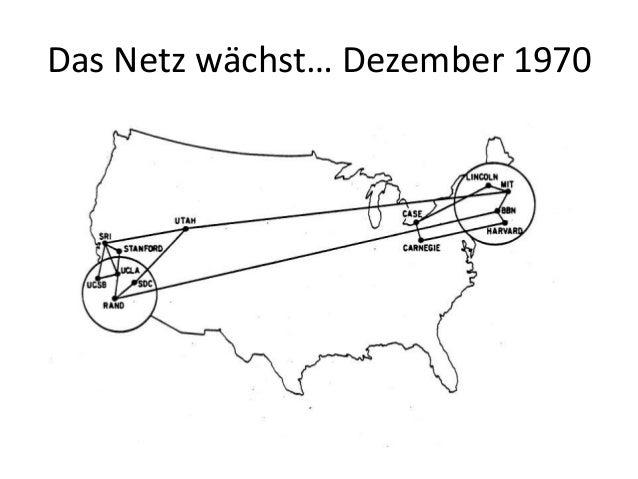 Das Netz wächst… Dezember 1970