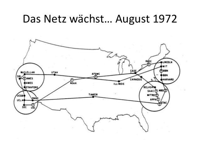 Das Netz wächst… August 1972
