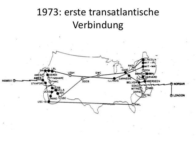 1973: erste transatlantische Verbindung