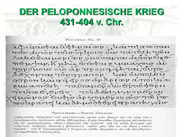 DER PELOPONNESISCHE KRIEG 431-404 v. Chr.