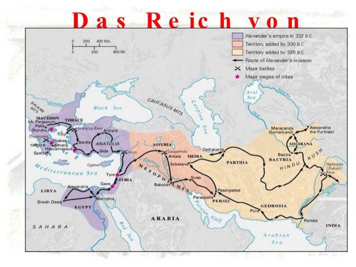 Das Reich von Alexander dem Grossen