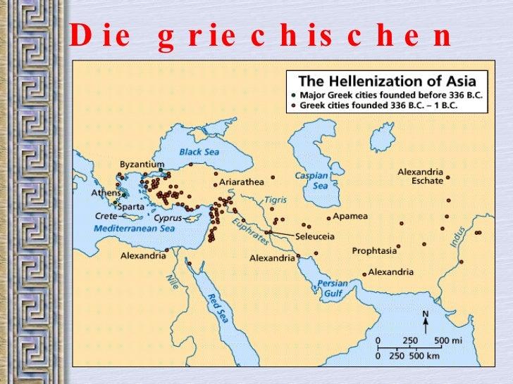 Die griechischen St ädte im Osten