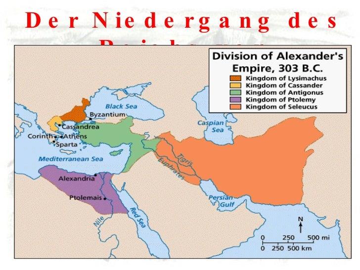 Der Niedergang des Reichs von Alexander