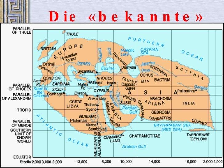 Die  « bekannte »  Welt  – 3. Jh. v. Chr.