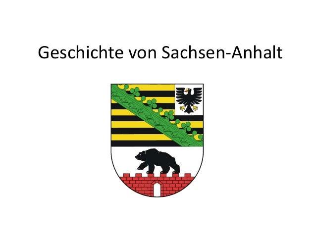 Geschichte von Sachsen-Anhalt
