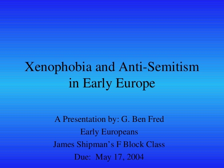 <ul><li>A Presentation by: G. Ben Fred </li></ul><ul><li>Early Europeans </li></ul><ul><li>James Shipman's F Block Class <...