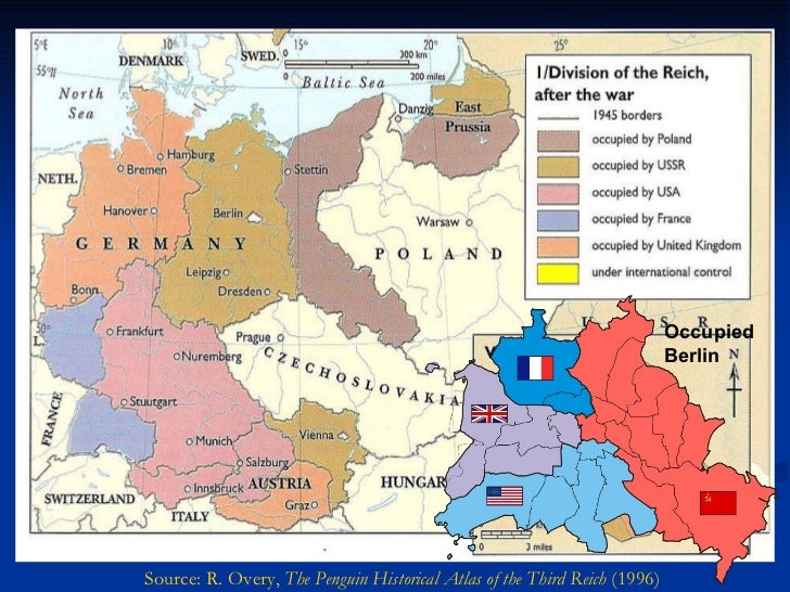 Map Of Germany During Cold War.Geschiedenis The Cold War Division Of Germany