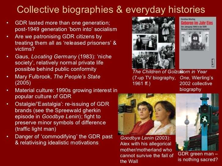 "an analysis of goodbye lenin and the german democratic republic Wohl are there for a purpose they add something to the meaning and should not  be  student selected wolfgang becker with reference to his film ""goodbye lenin ""  the german democratic republic, the film's universal themes, methods used ."