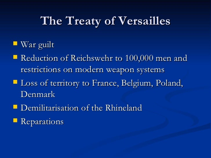 treaty of versailles weimar republic essay Were economic problems the main consequence of the treaty of versailles for   intro - did have a major impact on failure of weimar republic but other factors.