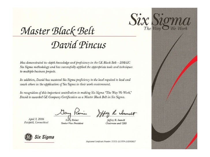 GE Six Sigma Certification