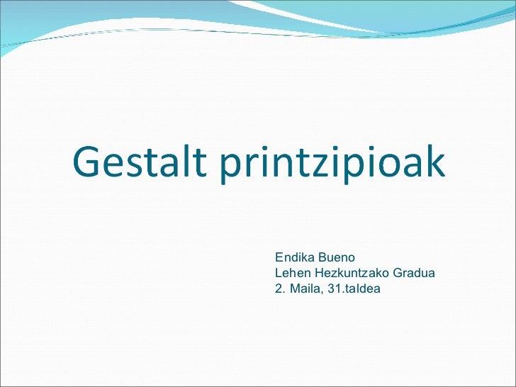 Endika Bueno Lehen Hezkuntzako Gradua 2. Maila, 31.taldea