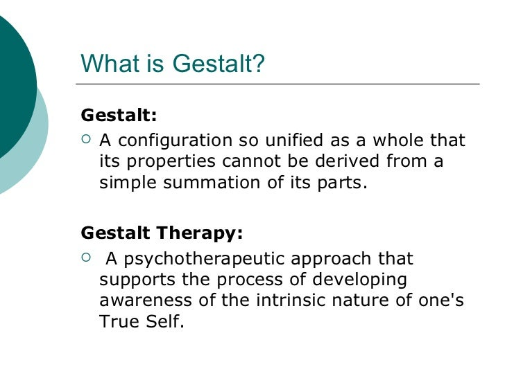 gestalt counseling