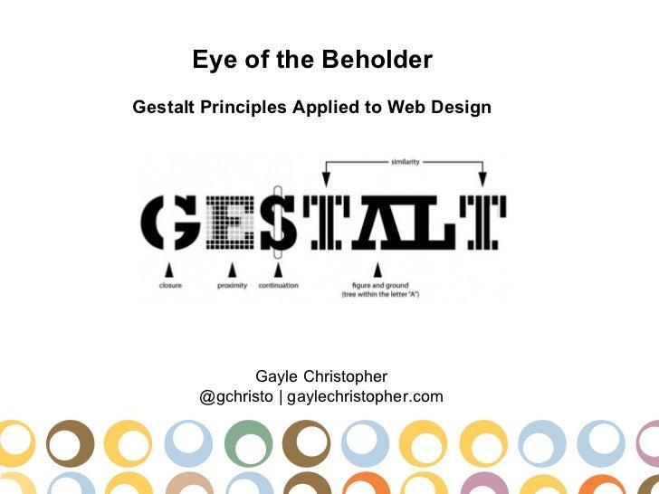 Gestalt Principles of Design