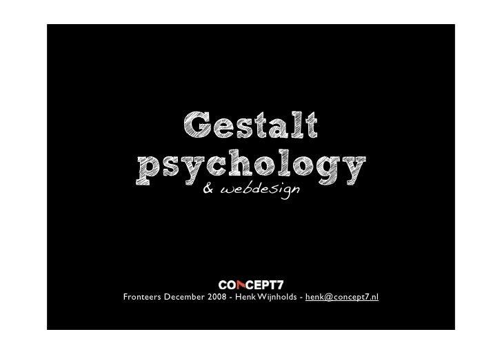 Gestalt Psychology and webdesign